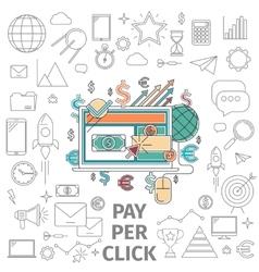 Concept pay per click vector image