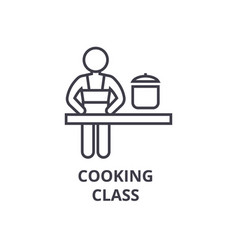 Cooking class line icon outline sign linear vector