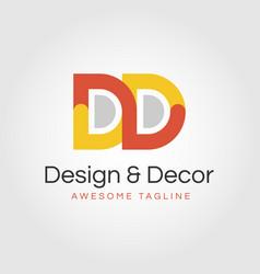 Dd creative logo design - double d vector