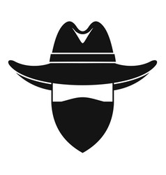 Desert cowboy icon simple style vector