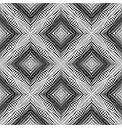Design seamless monochrome diamond dots background vector