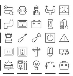 Electric and energy outline icon pixel perfect vector
