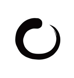 enso zen black circle brush vector image