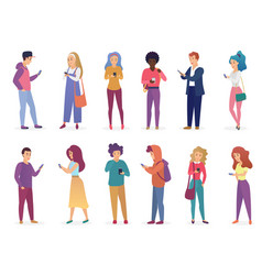 fashion people speaking vector image