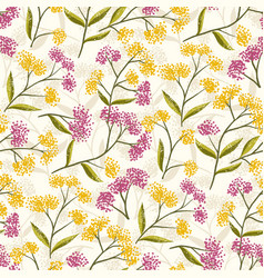 field foral seamless pattern-07 vector image