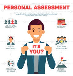flat banner personal assessment white background vector image