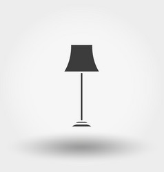 Floor lamp icon vector