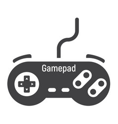 Gamepad solid icon console and joystick vector