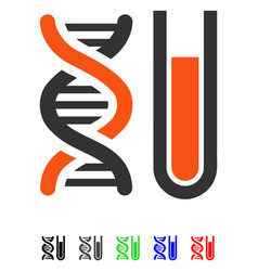 Genetic analysis flat icon vector