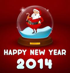 Hake with Santa inside the ball vector image