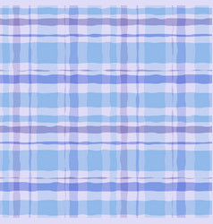 hand drawn watercolor tartan plaid seamless vector image