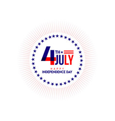 Happy independent day logo template design vector