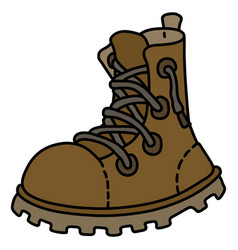 Leather lacing work shoe vector