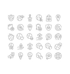 line icons earth day vector image