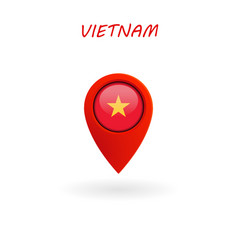 location icon for vietnam flag vector image