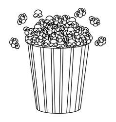 movie pop corn icon vector image