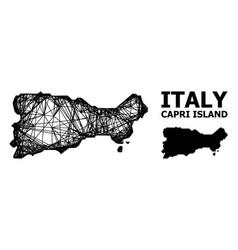 Network map capri island vector