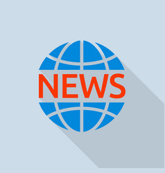 News global logo flat style vector