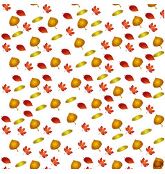 pattern with autumn leafes floral background vector image