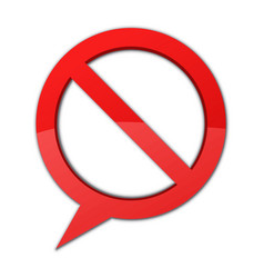 prohibitation sign vector image