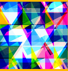 Psychedelic geometric seamless texture vector