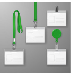 Realistic blank office graphic id card set vector