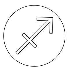 sagittarius symbol zodiac icon black color in vector image
