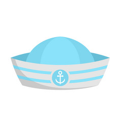 Sailor hat icon flat style vector