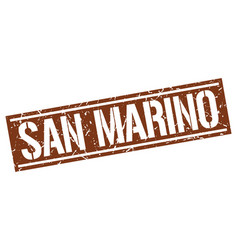 san marino brown square stamp vector image