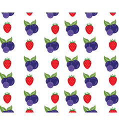seamless background with berries vector image