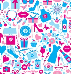Seamless pattern of spring celebration vector image