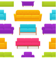 seamless pattern with armchair sofa couch vector image