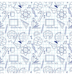 Seamless sketch of education doddle elements vector