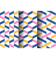 set modern seamless patterns vector image
