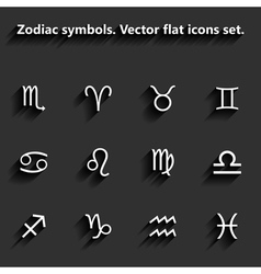 Signs of the zodiac flat icons vector image