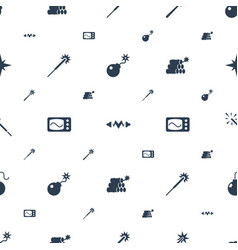 Spark icons pattern seamless white background vector