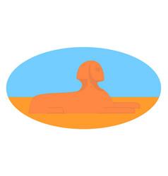 sphinx in desert on white background vector image