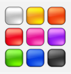 square button set vector image