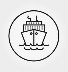 steamboat cruise universal icon thin vector image