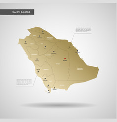 stylized saudi arabia map vector image