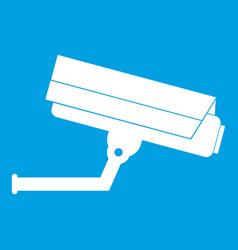 surveillance camera icon white vector image