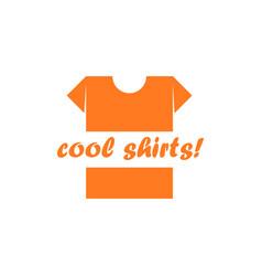 T-shirt logo cool shirts vector