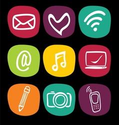 Technology web icons set vector image