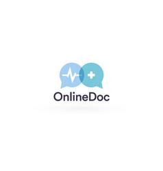 Telemedicine logo concept remote healthcare vector