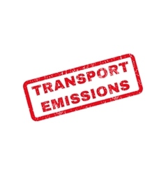 Transport Emissions Rubber Stamp vector
