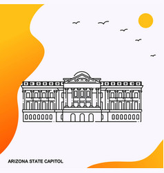 travel arizona state capitol poster template vector image