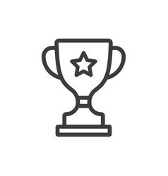 Trophy line icon images vector