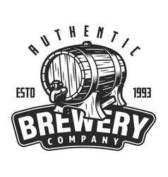 vintage brewery logo template vector image