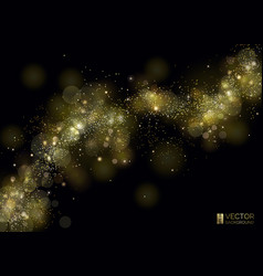 way of gold dust wave of sparkling particles vector image