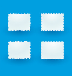white decorative sign on the blue background vector image